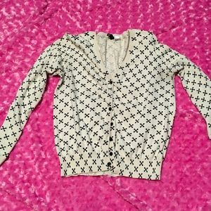 Cross cardigan white by H&M Divided Sz medium